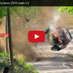 Rally Car Crashes Hard Into A Tree Video