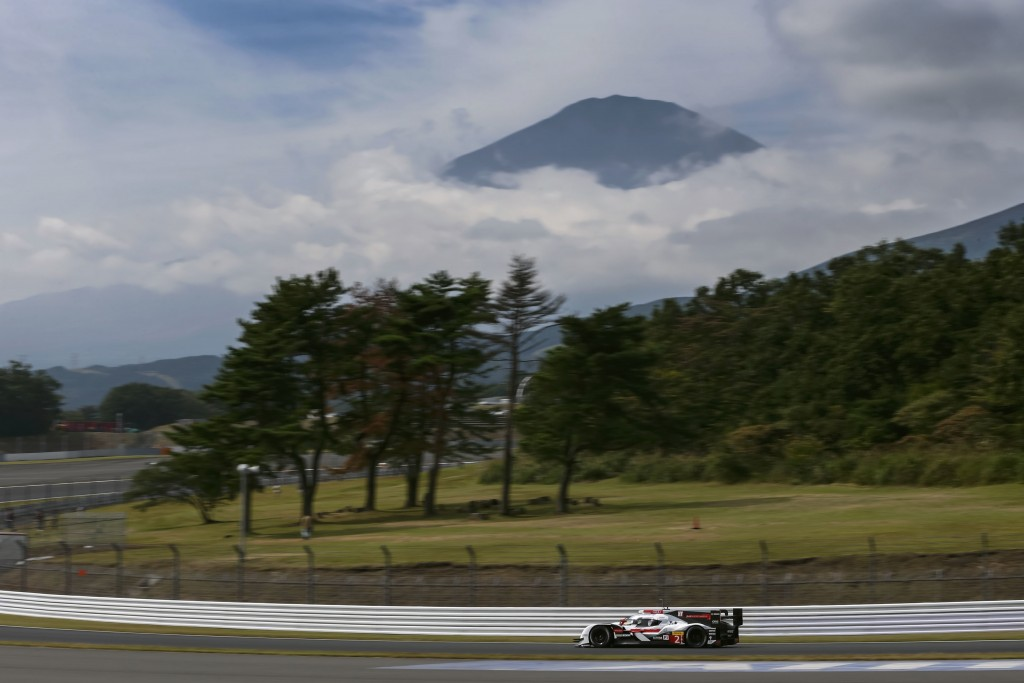 The WEC race in Japan is being held with a view to Mount Fuji